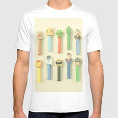 Candy Dispensers MEDIUM White Mens Fitted Tee