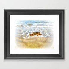WASHED AWAY TO THE SEA Framed Art Print