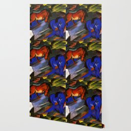 """Franz Marc """"Red and Blue Horses"""" Wallpaper"""