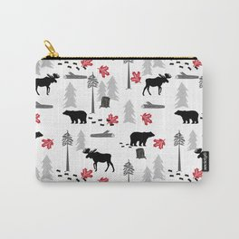 Camping woodland forest nature moose bear pattern nursery gifts Carry-All Pouch