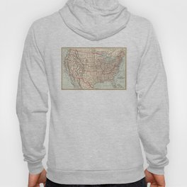 Vintage Map of The United States (1893) Hoody