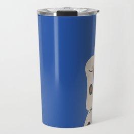Blue Lucky Cat Maneki Neko Travel Mug