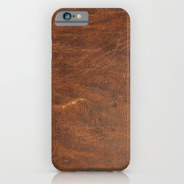 Old Tan Leather Print Texture | Cowhide iPhone Case