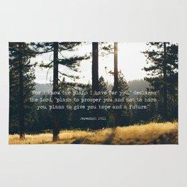 Golden Jeremiah 29:11 Rug