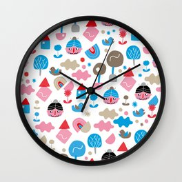 Fredrick n' friends holiday time Wall Clock