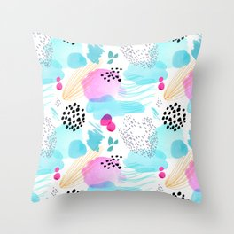 Abstract Watercolor by Minikuosi Throw Pillow