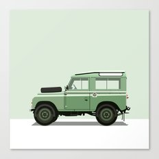 Car illustration - land rover Canvas Print