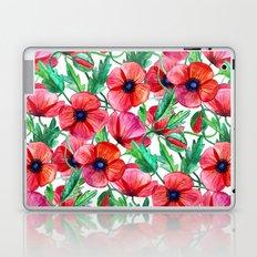 Plenty of Poppies - white Laptop & iPad Skin