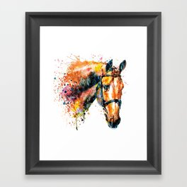 Colorful Horse Head Framed Art Print
