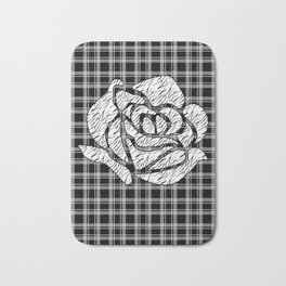 Quilting rose 1 Bath Mat