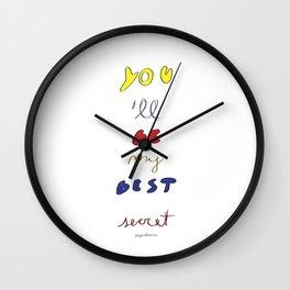 My Best Secret Wall Clock