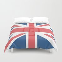 england Duvet Covers featuring  England by XKbeth