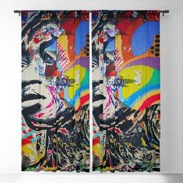 African Woman Urban Graffiti Art Blackout Curtain