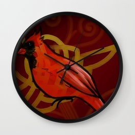 Red Jay Wall Clock