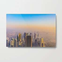Dubaï, View All In Pink Burj Metal Print