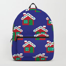 Christmas Gingerbread House Pattern Backpack