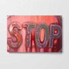 Stop Sign Metal Print