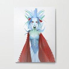 Blue Carmine Fairy Metal Print