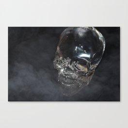 Smoking Skull cloud Canvas Print