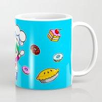 baking Mugs featuring Let's get baking! by Tu Phan