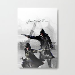 Jacob and Evie Frye Double Exposure Metal Print