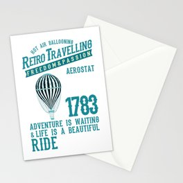 Retro Balloonist Hot Air Balloon Pilot Stationery Cards