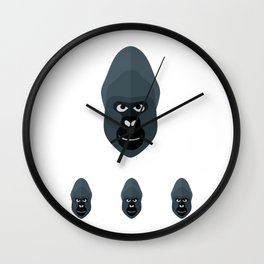 Planet Of The Gorillas Wall Clock
