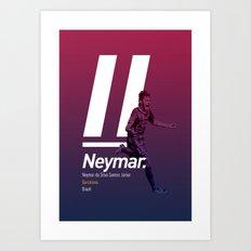 Neymar Barcelona Art Print