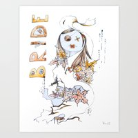 bride Art Prints featuring Bride by VicFreyd