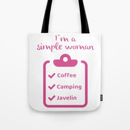 Coffee Camping Javelin I Novelty for Women Javelin Thrower Tote Bag
