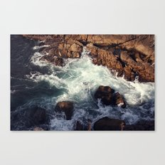 swirling current Canvas Print