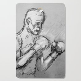 prizefighter sports boxing design Cutting Board
