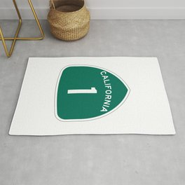 California State Route 1 Shield Rug
