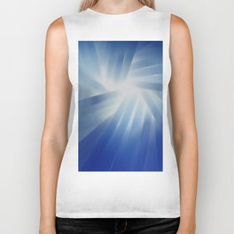 Blue Streaks of Light Biker Tank