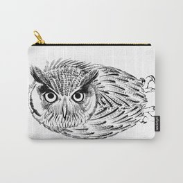 Northern white-faced owl tilted neck Carry-All Pouch