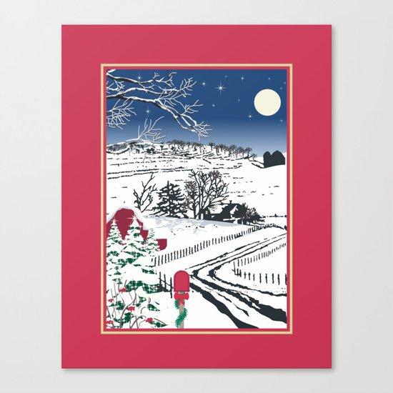 Silent Winter Night Silhouette Canvas Print