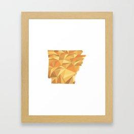 Arkansas Pattern Map Art Framed Art Print