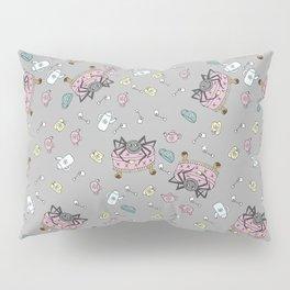 Teatime Spider - Gray Pillow Sham