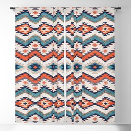 N70 - Bohemian Traditional Vintage Farmhouse Moroccan Style Artwork  Blackout Curtain