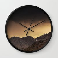 desert Wall Clocks featuring Desert by Mila Pechenyakova