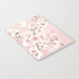 Vintage Floral Cherry Blossom Notebook