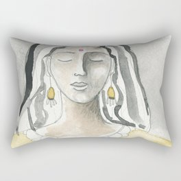 Mind and Heart Aligned Rectangular Pillow