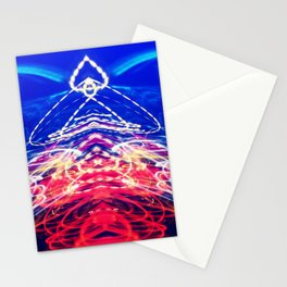 Electrical Circus Clown Light Paint Abstract Stationery Cards