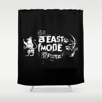 depeche mode Shower Curtains featuring Beast Mode by Triple C Apparel