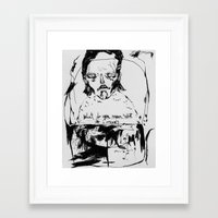 phil jones Framed Art Prints featuring phil by Valeria Pomidoro