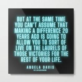 14  |  Angela Davis | Angela Davis Quotes |200814 Metal Print