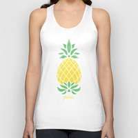 pineapple Tank Tops featuring Pineapple by Jacqueline Maldonado