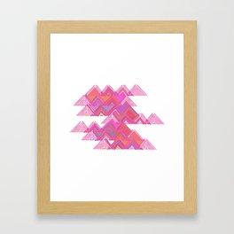 Colorful Line Work Framed Art Print