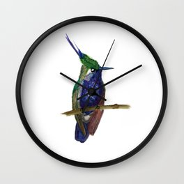 Green-crowned Plovercrest Wall Clock