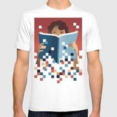 Print to Pixels MEDIUM Mens Fitted Tee White